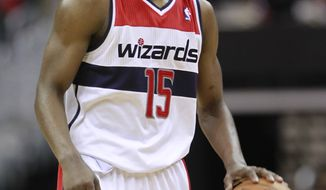 Washington Wizards' Jordan Crawford will get the start Saturday night against the Cleveland Cavaliers in place of Nick Young. (AP Photo/Haraz N. Ghanbari)