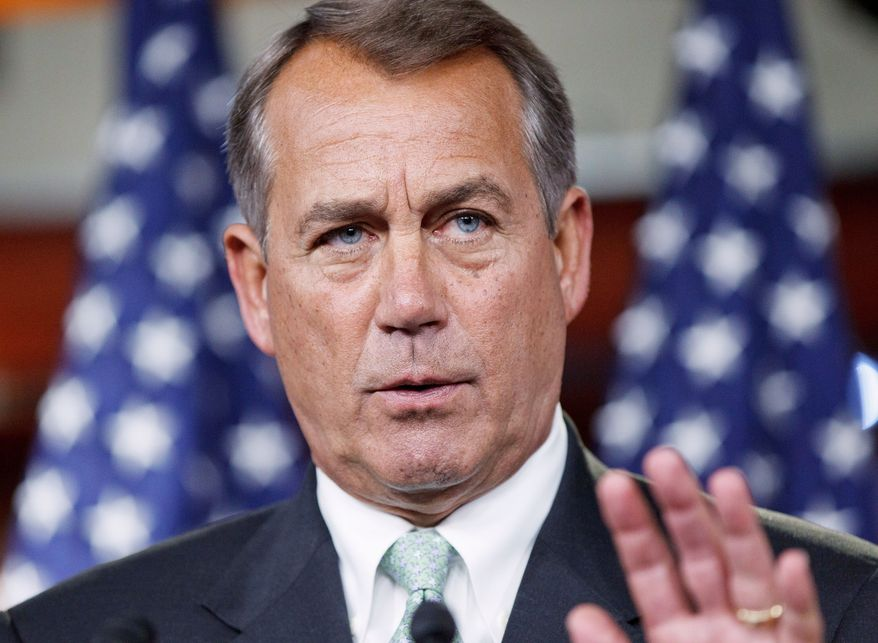 """House Speaker John A. Boehner wrote to President Obama about greenhouse gas rule-making: """"These rules ... stand to cost 180,000 American jobs per year."""" (Associated Press)"""