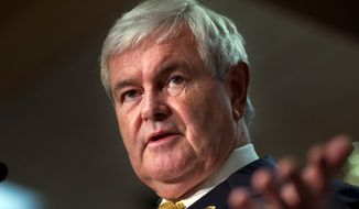 "Republican presidential candidate, former House Speaker Newt Gingrich: ""The president of the United States has enormous capacity to enable the increased production of American oil and American gas. By deregulation, by opening up the Gulf, by opening up fields in Alaska, by opening up federal lands."" (AP Photo/Evan Vucci)"