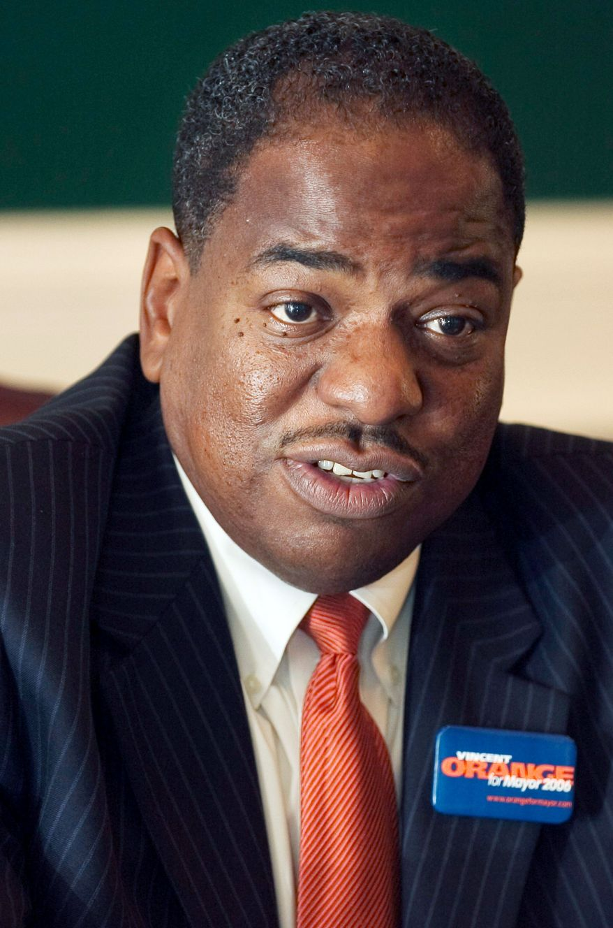 Council member Vincent B. Orange is one of the D.C. politicians who have reportedly received funds related to Jeffrey E. Thompson. (The Washington Times)