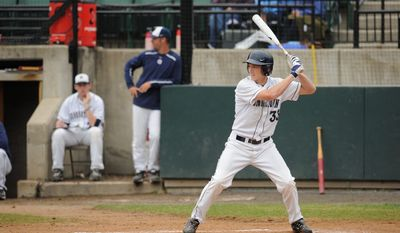 Rand Ravnaas is batting .472 with two home runs and 11 RBI in helping Georgetown get off to an 8-2 start. He returned to school for his senior season after being drafted by Pittsburgh last June. (Photo courtesy Georgetown Athletics)