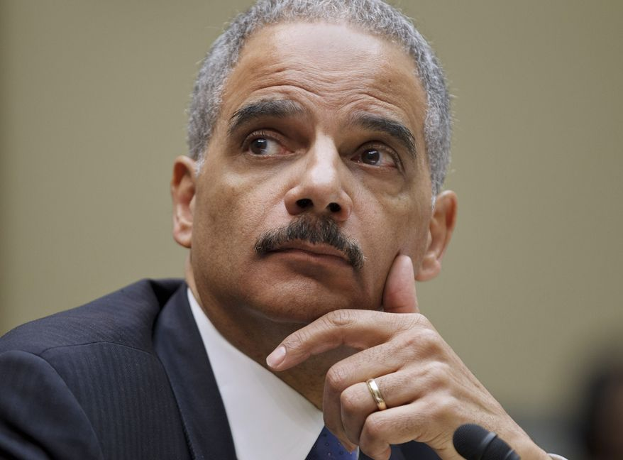 **FILE** Attorney General Eric Holder testifies Feb. 2, 2012, on Capitol Hill. (Associated Press)