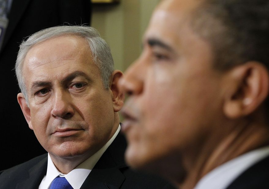 President Obama meets March, 5, 2012, with Israeli Prime Minister Benjamin Netanyahu at the White House. (Associated Press)