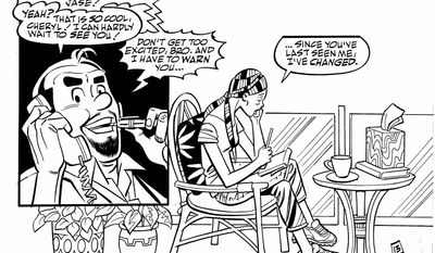 """Cheryl Blossom has been diagnosed with breast cancer and has to decide whether to stay on her own in California or return home to Riverdale, home of Archie, Reggie, Betty and Veronica. The story debuts in this month's issue of """"Life With Archie."""" (Archie Comics via Associated Press)"""