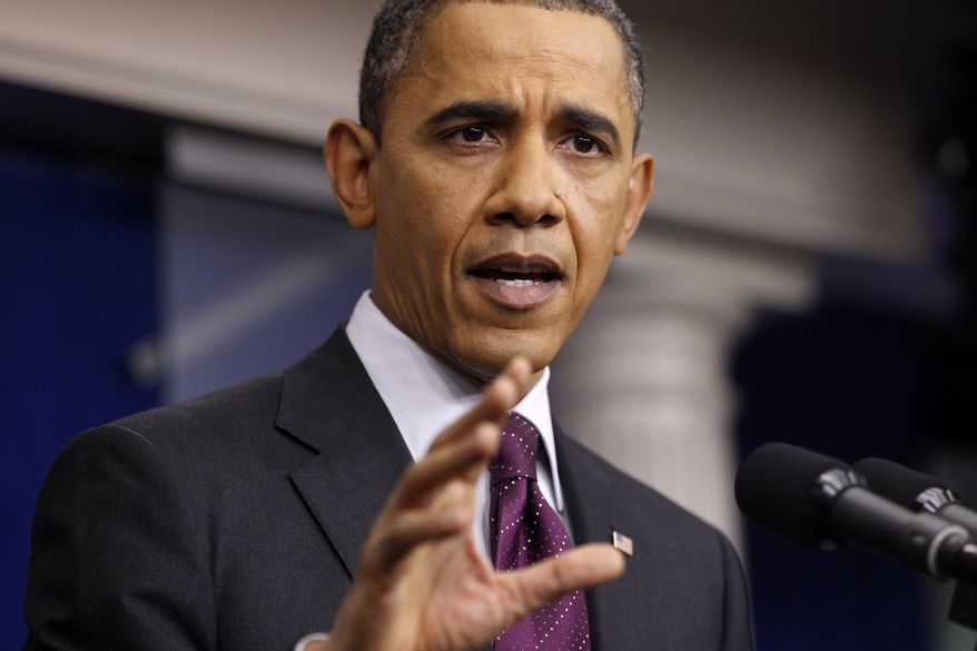 President Obama speaks March 6, 2012, during a news conference at the White House. (Associated Press)