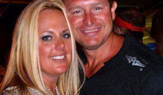 This undated photo provided by Joe Decker shows him and his 36-year-old wife, Stephanie Decker. Decker said his wife lost parts of both her legs when the family's home collapsed onto her March 2, 2012, in Marysville, Ind., as she was shielding their two children from a devastating tornado. (Associated Press/Courtesy of the Decker family)