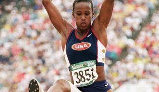 Jackie Joyner-Kersee, who claimed six Olympic medals, was named the greatest female athlete of the 20th century by Sports Illustrated in 1999. (Associated Press)