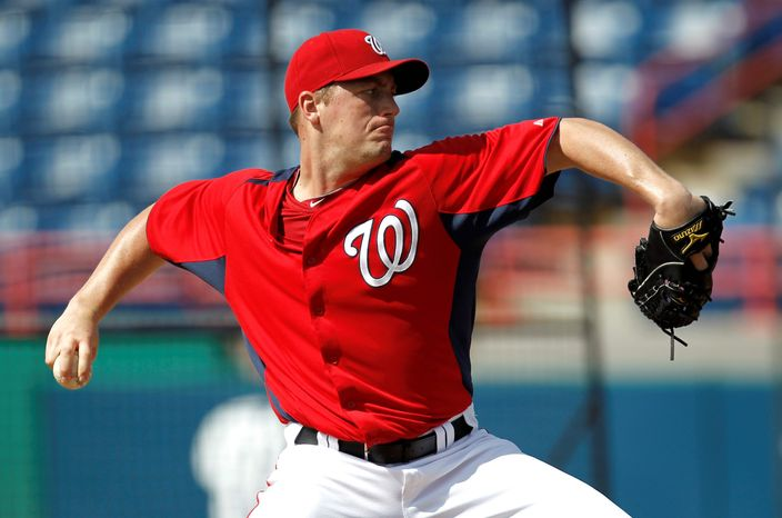 Nationals right-hander Jordan Zimmermann posted a 3.18 ERA in 2011, striking out 124 and walking 31 in 161  1/3 innings. He was coming off elbow ligament-replacement surgery. (Associated Press)