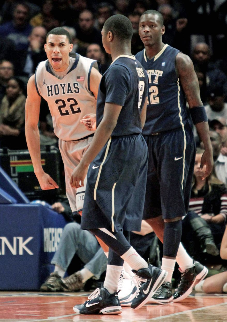 Georgetown's Otto Porter shows his satisfaction after scoring during the Hoyas' 64-52 win over Pittsburgh in the Big East tournament in New York. (Associated Press)