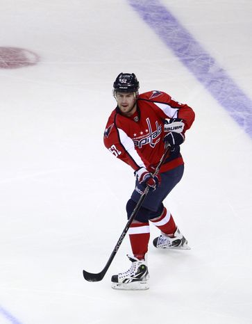 Washington Capitals defenseman Mike Green has three goals and three assists this season, all of which came in the first month of the season. (AP Photo/Haraz N. Ghanbari)