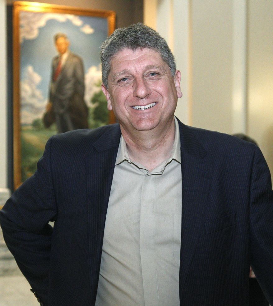 ** FILE ** In this Thursday, March 1, 2012, photo, Randall Terry, Democratic candidate for president on the Oklahoma ballot, visits the state Capitol in Oklahoma City. (AP Photo/Sue Ogrocki)