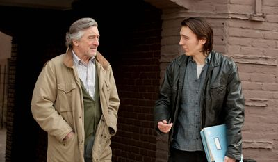 "The father-son relationship between Robert De Niro and Paul Dano is at the heart of ""Being Flynn,"" based on a druggy coming-of-age memoir by Nick Flynn. (Focus Features via Associated Press)"