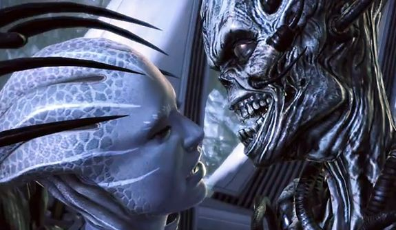 The horrors of an invasion are realized in the video game Mass Effect 3.