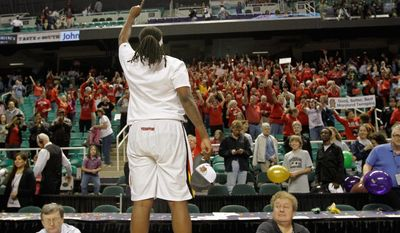 Lynetta Kizer came off the bench to score 11 points in Maryland's ACC title-clinching victory over Georgia Tech on March 4. She has averaged 11.4 points this season. (Associated Press)