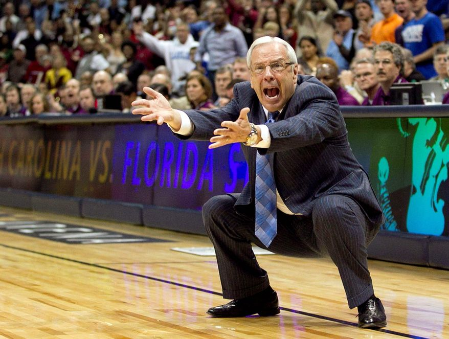 Tar Heels coach Roy Williams wasn't too happy during his team's ACC Tournament title game loss to Florida State on Sunday. But it should cheer him up to know North Carolina is one of a handful of programs capable of playing its way into the NCAA tournament these days. (Associated Press)