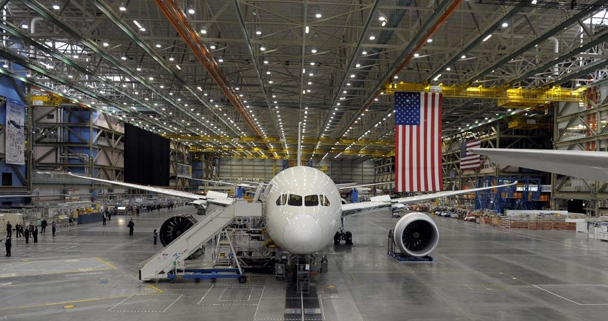 "Boeing's popular 787 Dreamliner has been nicknamed the ""Subsidy-liner"" and the ""7-aid-7"" by European rival Airbus because of funding provided to Boeing by the U.S. government. The World Trade Organization ruled Monday that the U.S. has provided billions in illegal subsidies to Boeing. (Associated Press)"