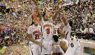 Maryland's ACC championship is just one of the team's goals. They'd also like a long run in the NCAA tournament, which starts Saturday against Navy. (Associated Press)