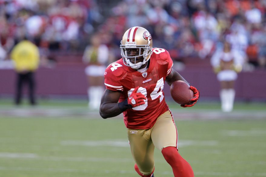 Josh Morgan was limited to five games with San Francisco in 2011 because of a broken ankle. (Associated Press)