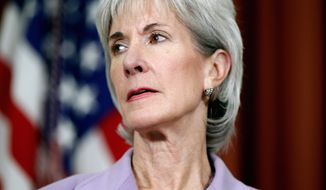 ** FILE ** Health and Human Services Secretary Kathleen Sebelius. (Associated Press)