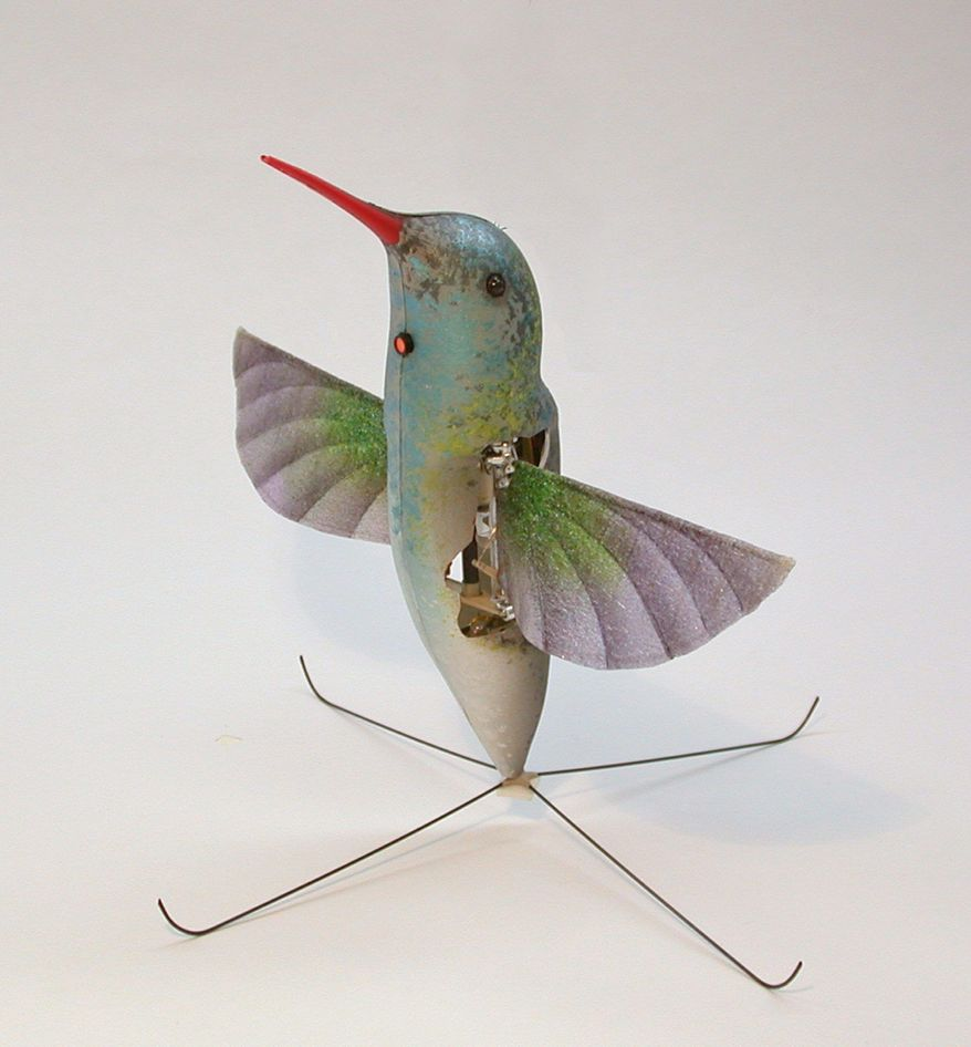 A drone designed to mimic a hummingbird weighs less than a AA battery. (Aerovironment Inc.)