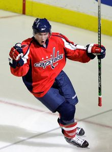 Washington Capitals forward Keith Aucoin has seven points in 15 games, but five have come in the last five games. (Associated Press)