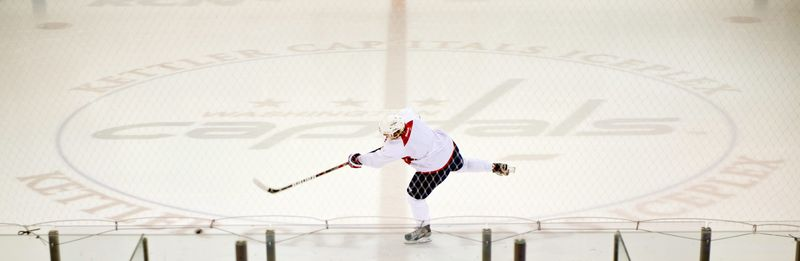 Capitals center Nicklas Backstrom skates Thursday at the Kettler Capitals Iceplex in Arlington. Backstrom has skated three days in a row, a significant step forward as he recovers from a concussion that has kept him out of action since early January. (Andrew Harnik/The Washington Times)