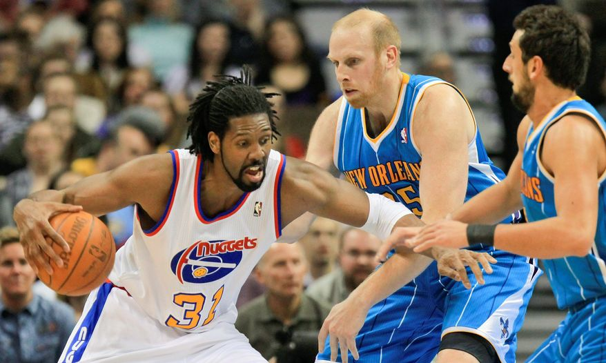 associated press Nene averaged 13.4 points and 7.4 rebounds for the Nuggets. He spent his first nine seasons in Denver after being drafted seventh overall by New York in 2002.