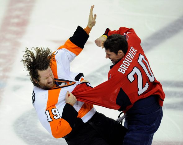 associated press Capitals left wing Troy Brouwer has scored 18 goals in addition to bringing a physical presence in his first season with Washington.