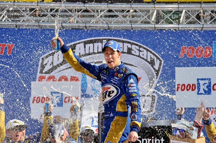 Brad Keselowski led 231 laps en route to victory at Bristol Motor Speedway on Sunday. (Associated Press)