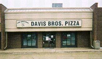 It's politics heartland style. RIck Santorum final campaign stop Monday night before the Illinois primaries: Davis Brothers Pizza in East Peoria, founded in 1948.