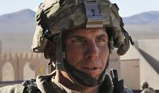 ** FILE ** Army Staff Sgt. Robert Bales participates in an exercise at the National Training Center at Fort Irwin, Calif., on Tuesday, Aug. 23, 2011. (AP Photo/Defense Video & Imagery Distribution System, Spc. Ryan Hallock)