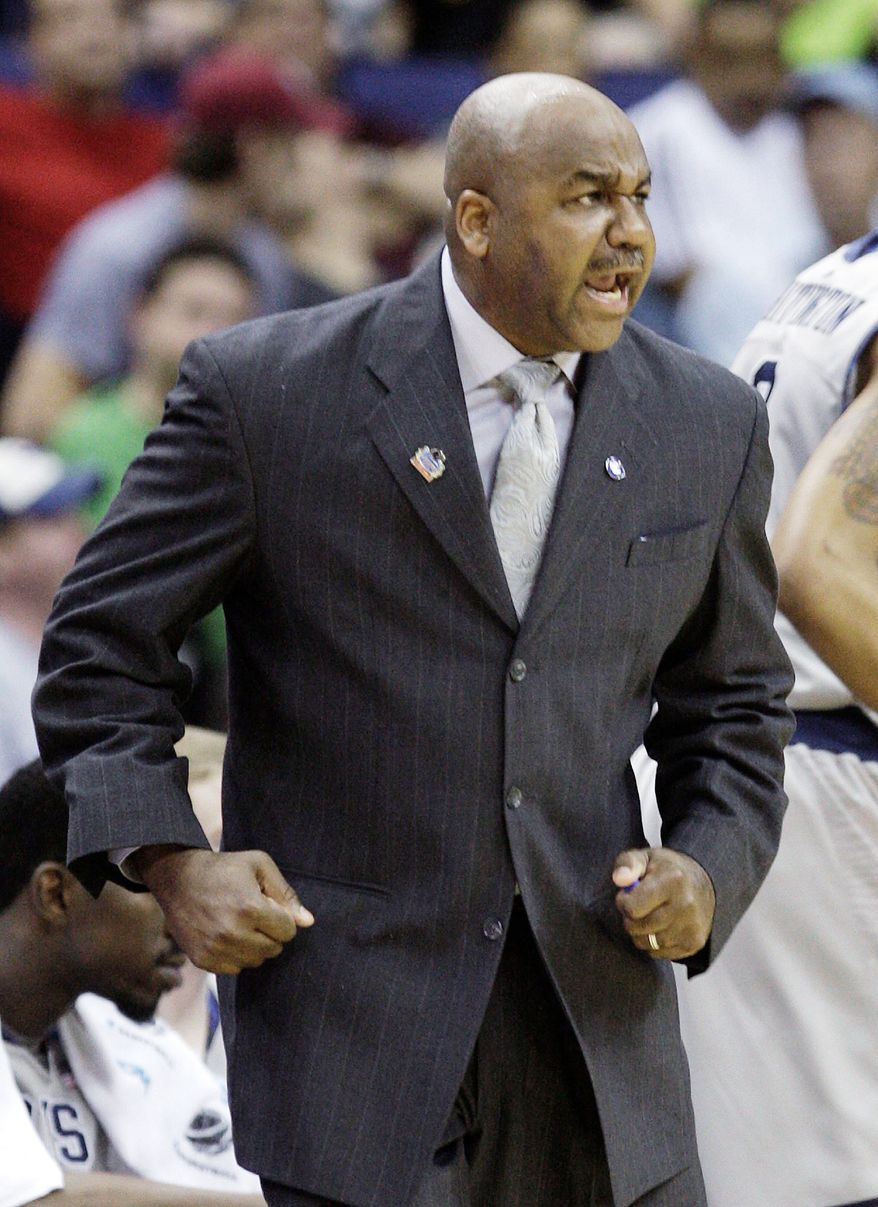 Georgetown coach John Thompson III guided a team with 10 underclassmen to a No. 3 seed in the NCAA tournament. (Associated Press)