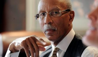 "Detroit Mayor Dave Bing said it would be ""nuts"" to think he'd accept a state oversight board for the city's intractable finances. ""When I did read it, I was appalled,"" he said. (Associated Press)"
