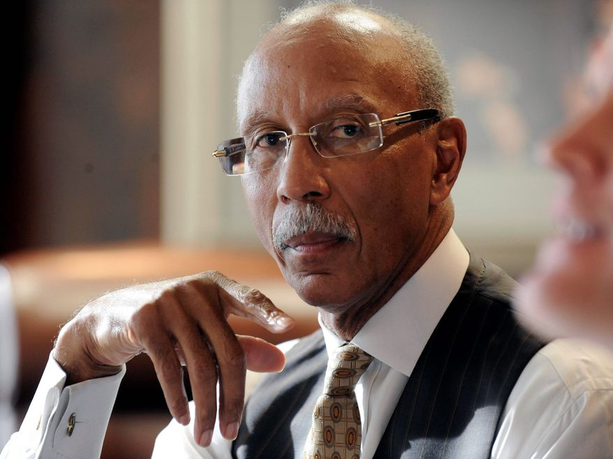 """Detroit Mayor Dave Bing said it would be """"nuts"""" to think he'd accept a state oversight board for the city's intractable finances. """"When I did read it, I was appalled,"""" he said. (Associated Press)"""