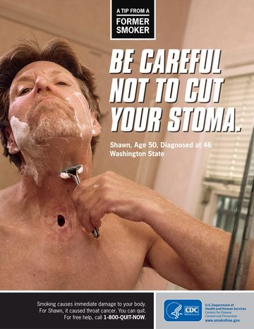 "The federal government can require tobacco companies to ""reserve significant packaging space"" for anti-smoking warnings and graphic images, such as this one from the Centers for Disease Control and Prevention, a three-judge appellate pa"