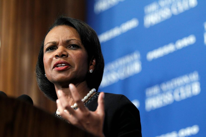 Secretary of State Condoleezza Rice and Joel Klein, a former New York City school chancellor, in a report released Tuesday concluded the nation's education system is becoming a national security issue. (Associated Press)