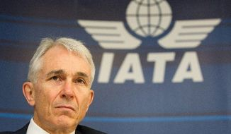 """""""Historically, if GDP falls below 2 percent, the industry returns a collective loss. So it would not take much of a shock to turn our very modest profit projection to a net loss,"""" said Tony Tyler, the International Air Transport Association's chief executive, during a press conference in Geneva on Tuesday. (Associated Press)"""