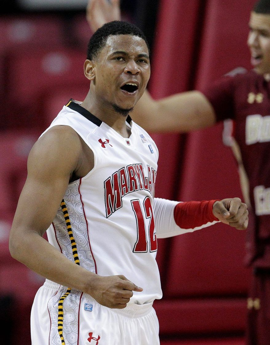 Maryland guard Terrell Stoglin led the team with 21.6 points per game last season. (Associated Press)
