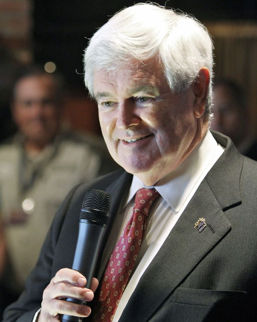 GOP presidential hopeful Newt Gingrich ended February with more debt than cash and raised only $2.6 million, campaign-finance reports show. (Lake Charles (La.) American Press via Associated Press)