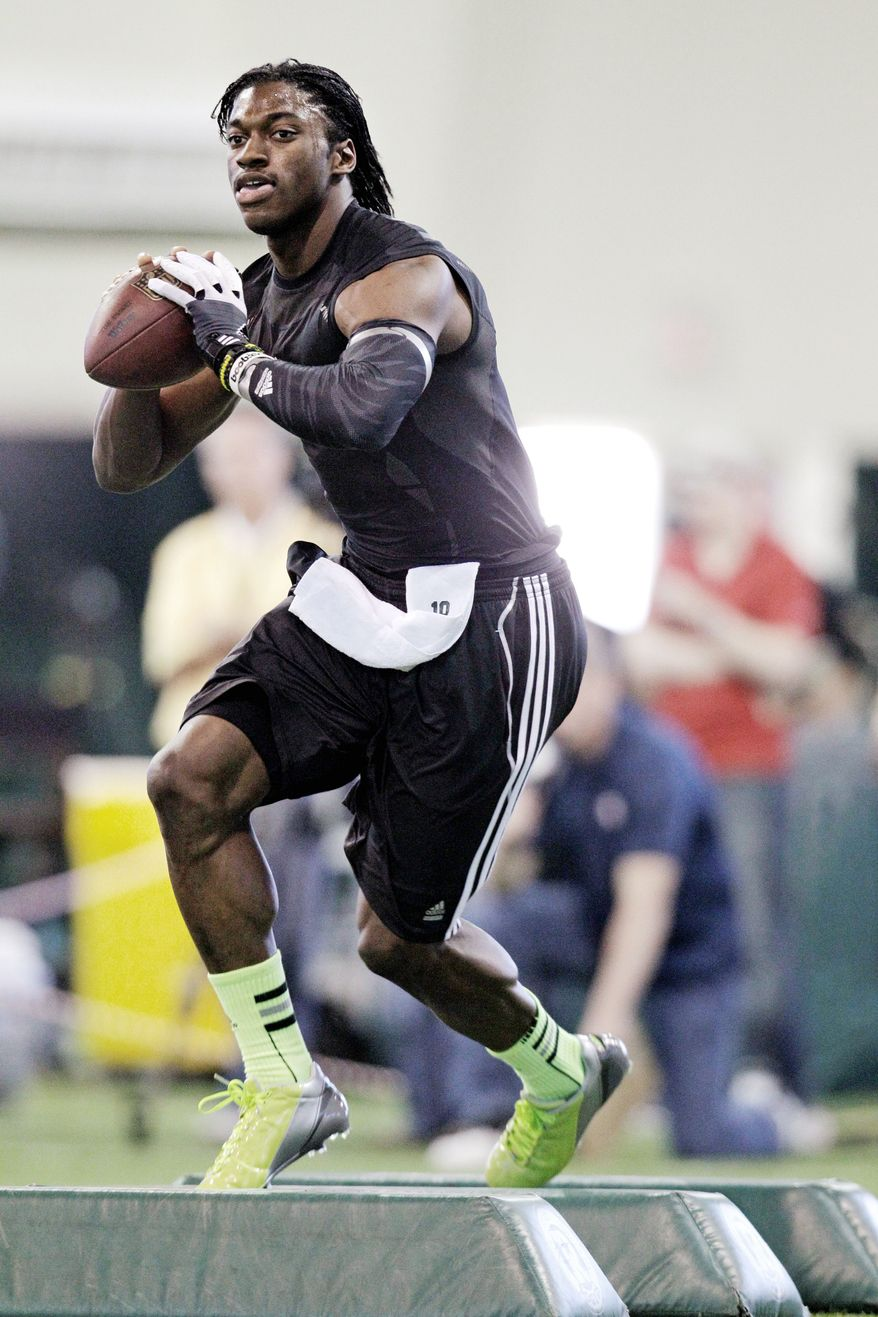 After trading for the No. 2 pick in this year's NFL draft, the Washington Redskins are expected to take whichever quarterback the Indianapolis Colts do not select. Many expect that to be Baylor's Robert Griffin III. (Associated Press)