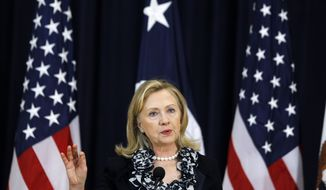 Secretary of State Hillary Rodham Clinton (AP Photo/Charles Dharapak)