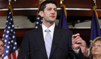 ** FILE ** House Budget Committee Chairman Rep. Paul Ryan, Wisconsin Republican, speaks about his budget plan during a news conference on Capitol Hill in Washington, Tuesday, March 20, 2012. (AP Photo/Jacquelyn Martin)