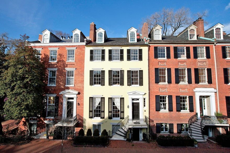 "The six-level Federal-style home is on the market for $4,950,000. On ""Smith's Row,"" the home was built circa 1804 to 1816."