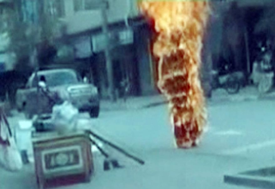 Buddhist nun Palden Choetso set herself on fire on a street in Tawu, in China's Sichuan Province, in November to protest China's rule of Tibet
