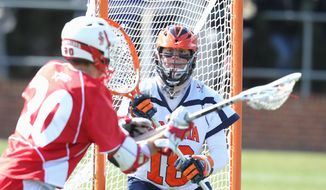 Virginia goalie Rob Fortunato sat behind incumbent Adam Ghitelman for three years before securing the starting role his senior season. (Virginia Athletics)
