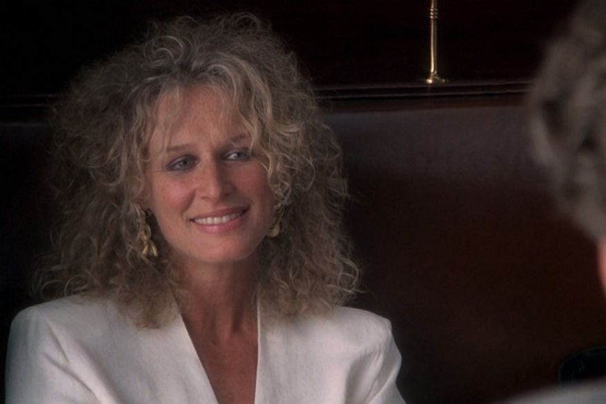 """Glenn Close in the 1987 movie """"Fatal Attraction."""" (Courtesy Paramount Home Entertainment)"""