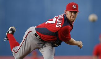 Just 19 months removed from Tommy John surgery, Nationals pitcher Stephen Strasburg was named the team's Opening Day starter. (AP Photo/Patrick Semansky)