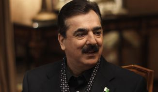 ** FILE ** Pakistani Prime Minister Yousuf Raza Gilani (Associated Press)