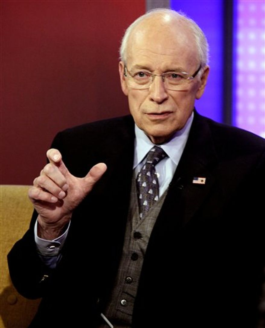 ** FILE ** Former Vice President Dick Cheney is interviewed in New York on Aug. 31, 2011. (AP Photo/Richard Drew)