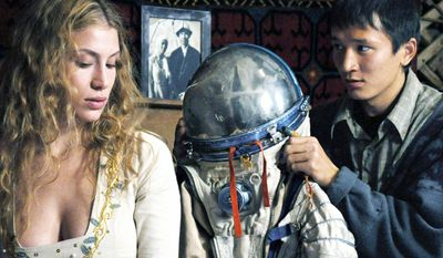 "German screenwriter/director Veit Helmer came up with idea for 2011's adventure-comedy ""Baikonur"" after running workshops for film students in Almaty. The film revolves around a French ""space tourist"" who falls from the sky into the life of a young Kazakh villager.  (Kazakhfilm)"